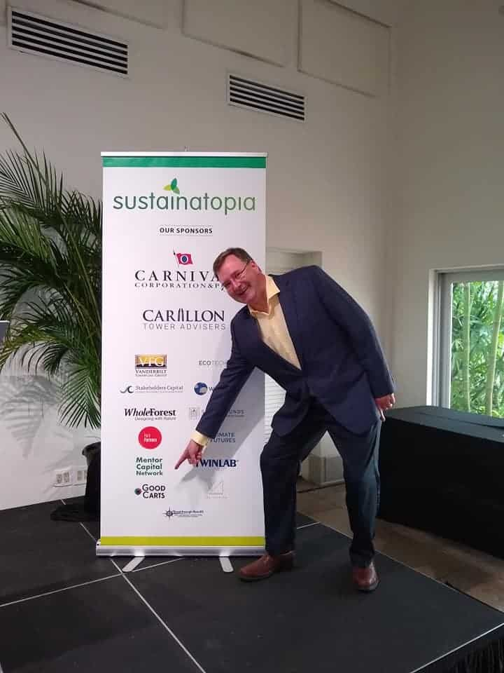 Photo of Steven Clift at Sustainatopia